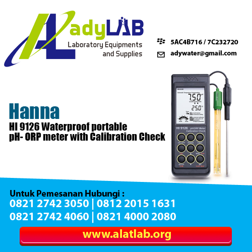 HI 9126 Waterproof portable pH- ORP meter with Calibration Check